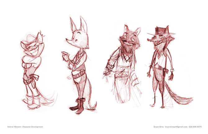Animal Western Character Ideas Bryan Sims