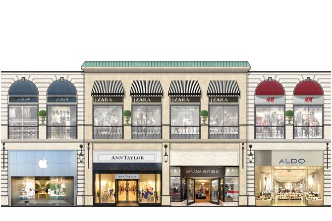 Front Elevation Architecture Of Market : Doha shopping center design concept gina soohoo interior